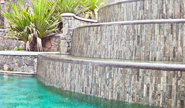 image of a large water feature with pool